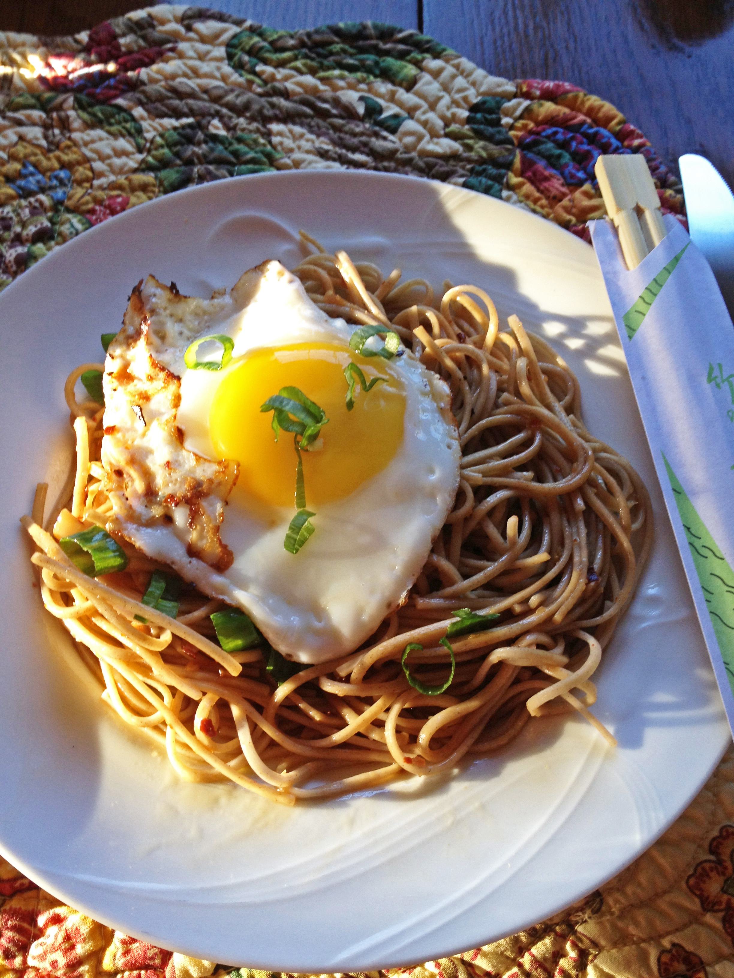 Garlic Soba Noodle Recipe — Dishmaps